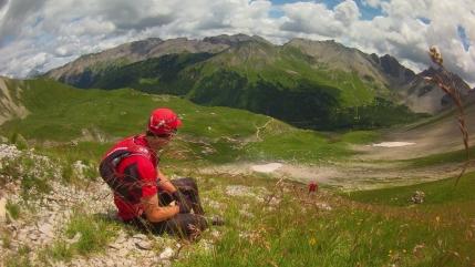 Km31 - Marc Antoine (Dossard 105) dans la montée du Pas De L'Ase