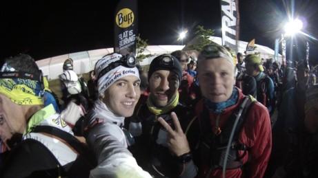 Moi, Guillaume et Benoit au départ de l'Endurance Trail